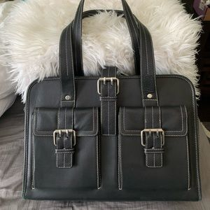 Franklin Covey Leather Laptop Bag